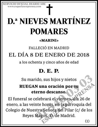 Nieves Martínez Pomares